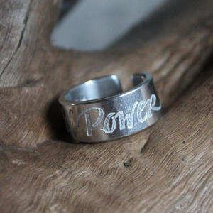 """Girl Power"" ring"